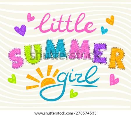 little summer girl inscription