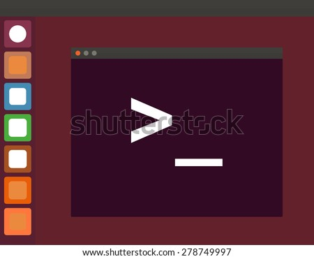 terminal startup icon and linux