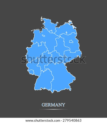 germany map outlines in