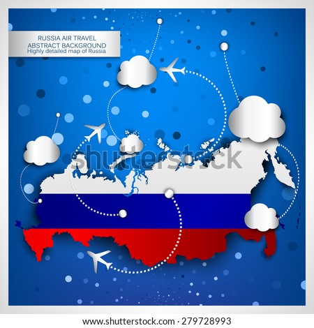 russia air travel abstract