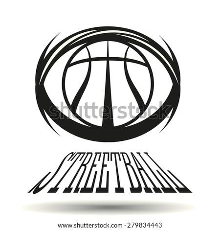 Street basketball logo Free Vector / 4Vector
