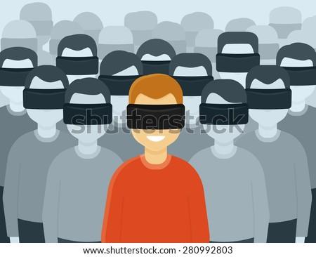 many people wearing virtual