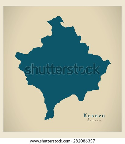 modern map   kosovo rs