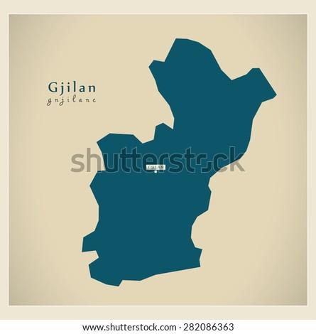 modern map   gjilan rs