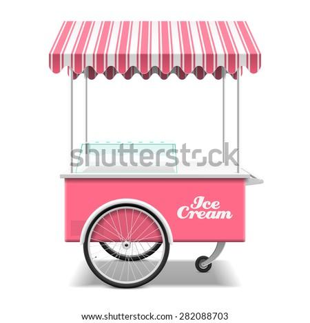 ice cream cart vector