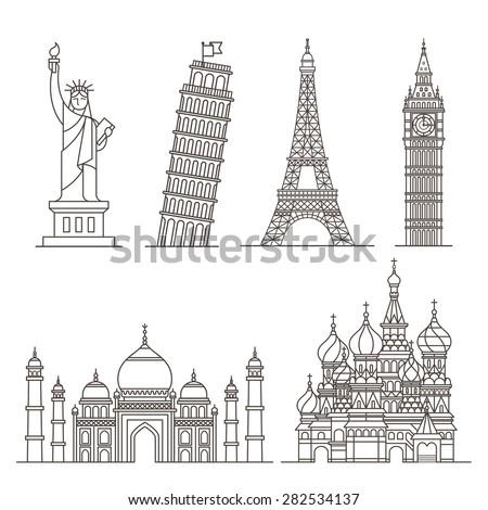 landmark icons statue of