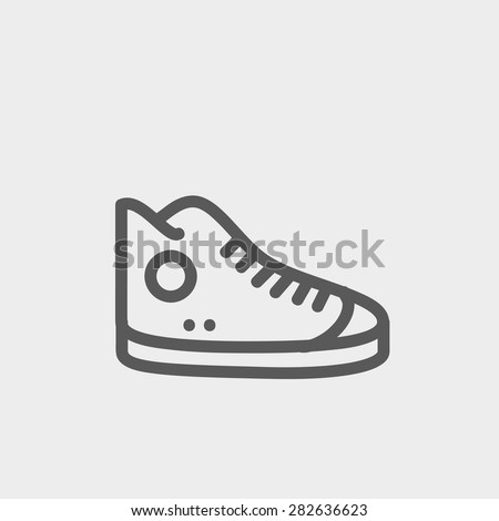 high cut rubber shoes icon thin