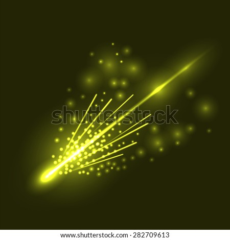 vector falling comet isolated