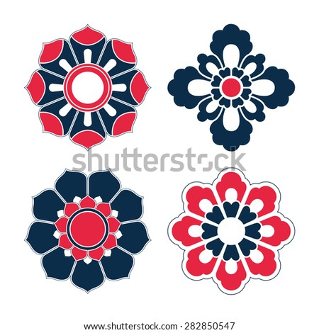 floral pattern of china style