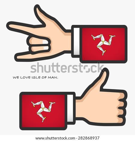 ily and thumb up hand sign with