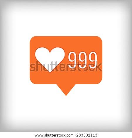 like orange icon 999 likes