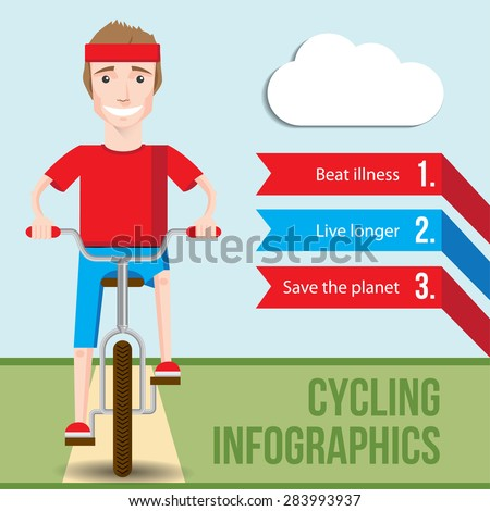 bicycle infographics concept