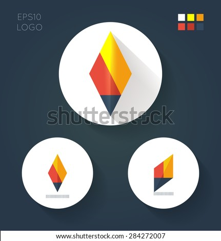 flat style logo variants for