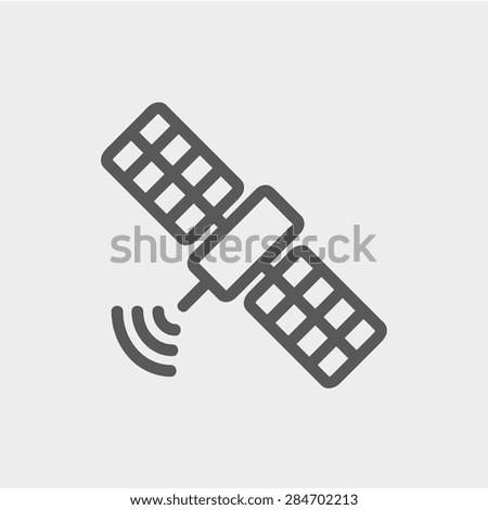 satellite icon thin line for