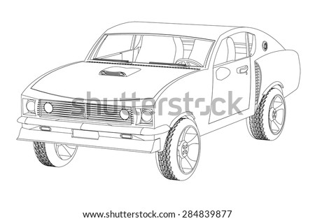 Top View Line Drawing Car Free Vector Download 101 101 Free Vector
