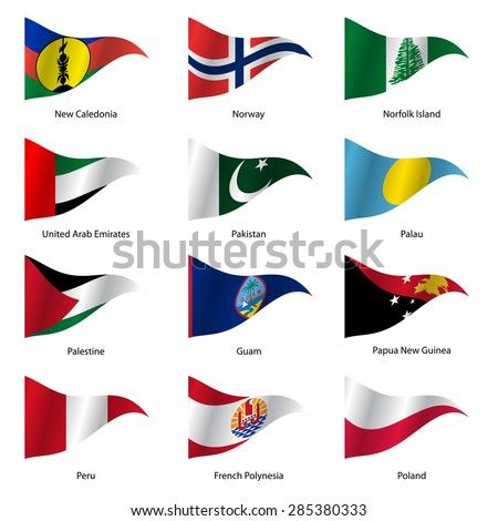 set  flags of world sovereign
