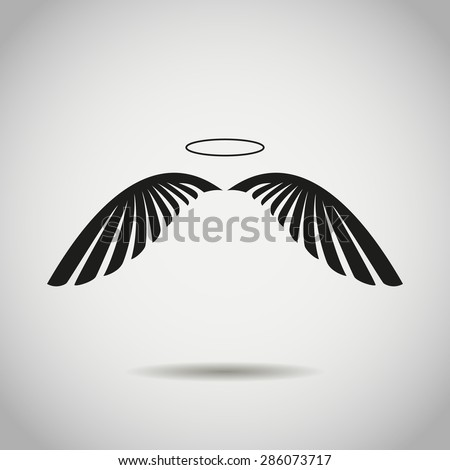 angel wings stock vector