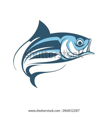jumping fish logo template