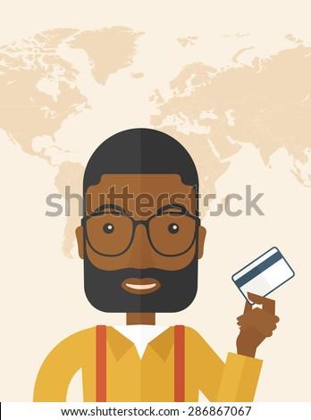 a happy african businessman