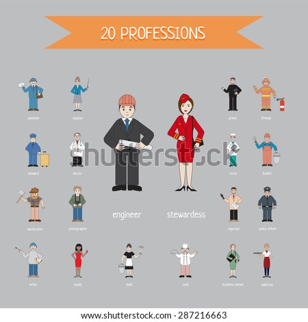 profession of different people