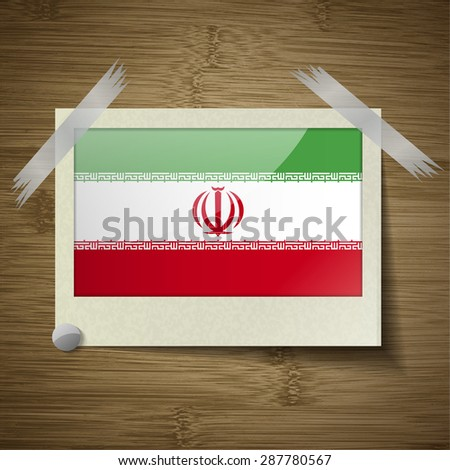 flags of iran at frame on
