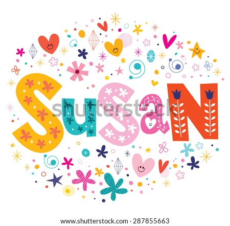 susan girls name decorative