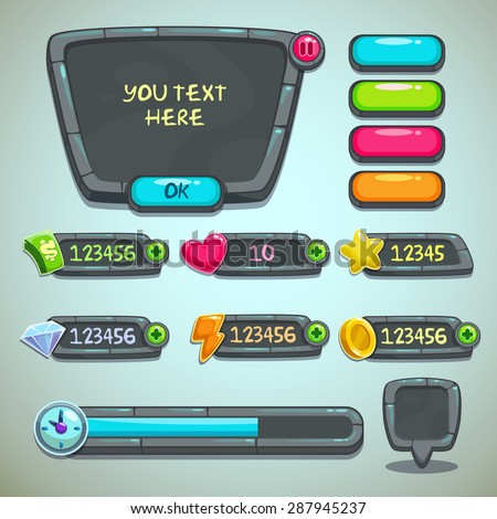 gray stone user interface for