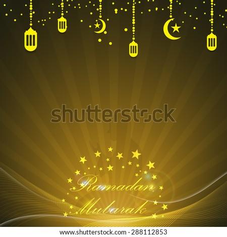 vector abstract ramadan mubarak