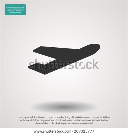 plane icon vector  eps 10