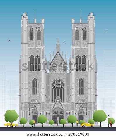 tall building of the cathedral