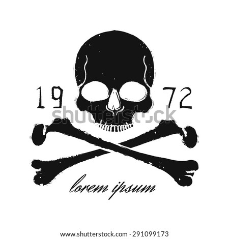 skull and crossbones vintage