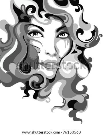 psychedelic graffiti girl