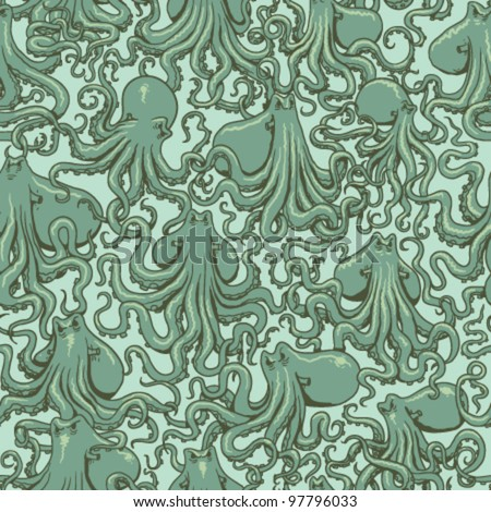Octopus Pattern Octopus Seamless Pattern