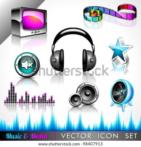 vector icon collection on a