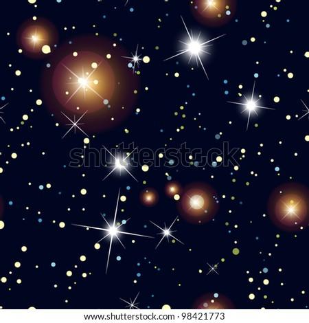 night sky with stars  seamless