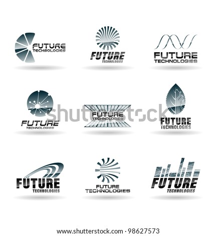 set of future technology icons