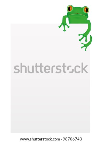 green tree frog sitting on