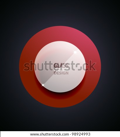 glass transparent circle button