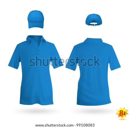 blue unisex uniform template