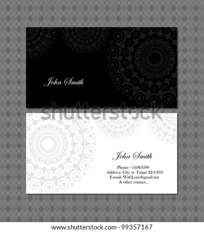 Victorian Business Card Template Free Vector Download 32 288 Free