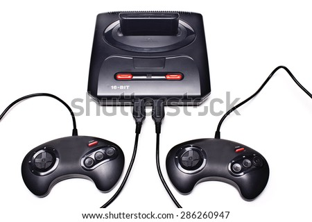 A 16-bit video game,Video game  - stock photo