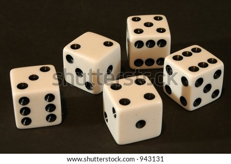 a bunch of dice - stock photo