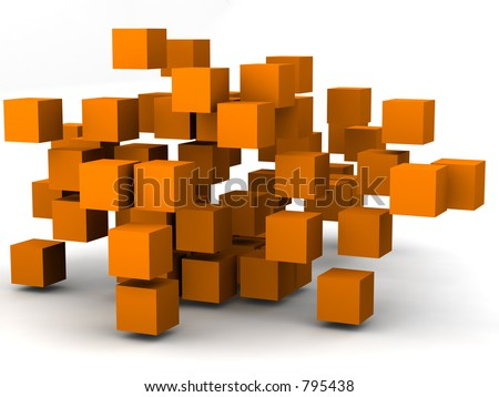 #3 - a 3d render series showing change and motion - stock photo