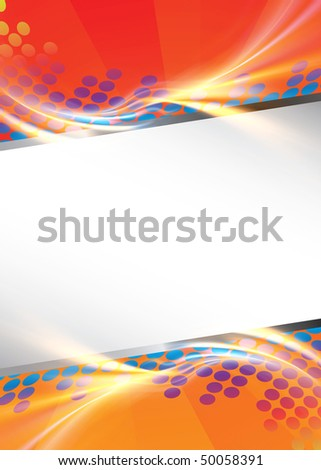 A modern graphic template with lots of copyspace for your text or other elements. - stock photo
