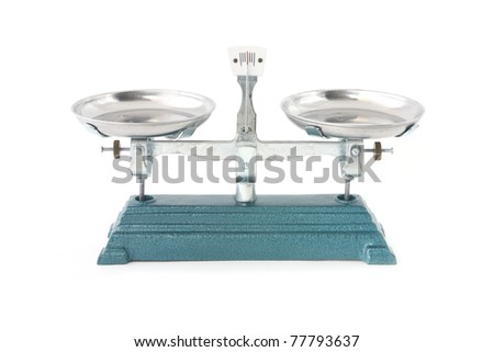 a weight scales isolated balance - stock photo