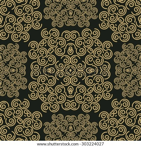 Abstract background with damask pattern - stock photo