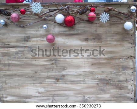Abstract blurred Beautifully decorated Christmas in the city. Great backgound                              - stock photo