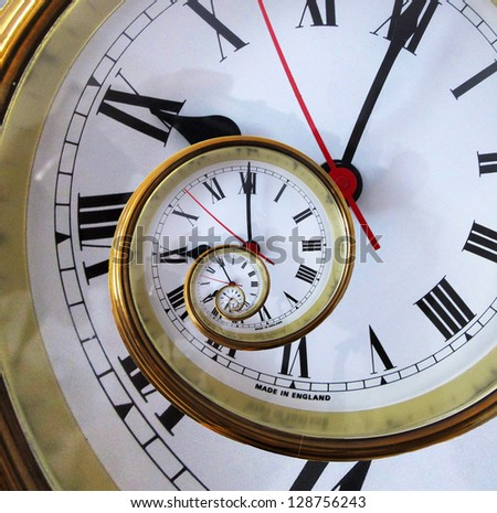 Abstract Clock. - stock photo