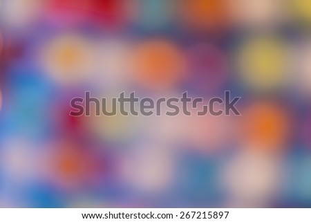 """Abstract Crowd and Lights"" An abstract look at the Christmas lights - stock photo"