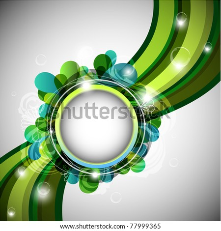 Abstract green background with copy space - raster version - stock photo